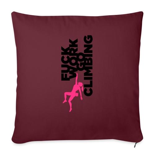 Go Climbing girl! - Sofa pillowcase 17,3'' x 17,3'' (45 x 45 cm)