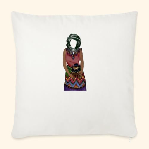 Femme avec jare - Housse de coussin décorative 45x 45cm