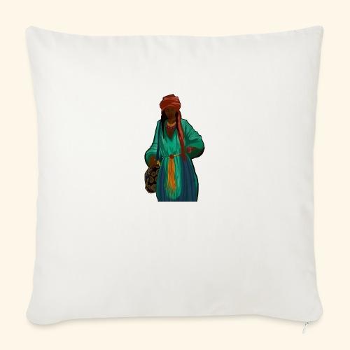 Femme avec sac motif - Housse de coussin décorative 45x 45cm