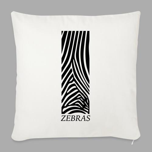 zebras - Sofa pillowcase 17,3'' x 17,3'' (45 x 45 cm)