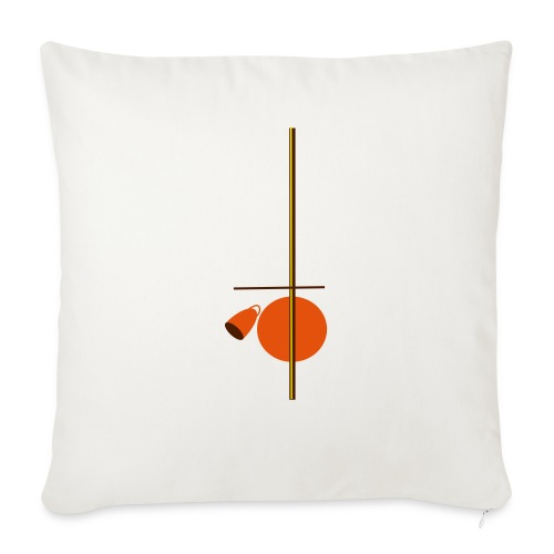 berimbau caxixi - Sofa pillowcase 17,3'' x 17,3'' (45 x 45 cm)