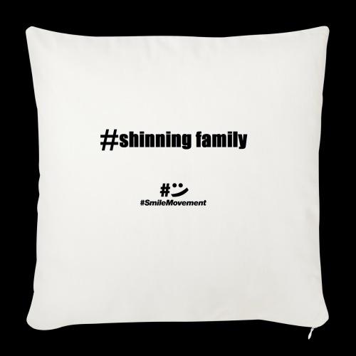 shinning family - Housse de coussin décorative 45x 45cm