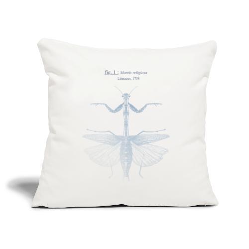 mantis religiosa - bleue - Housse de coussin décorative 45x 45cm