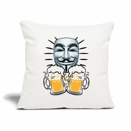 07 Zwei Mass Bier Anonymous - Sofakissenbezug 44 x 44 cm