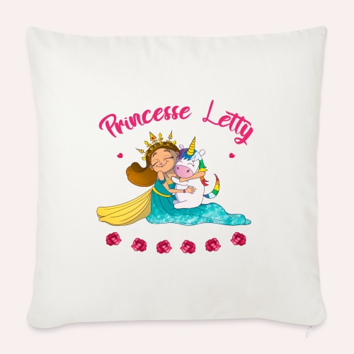 Princesse Letty - Housse de coussin décorative 45x 45cm