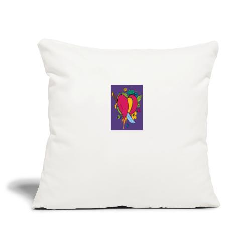 Cuore - Copricuscino per divano, 45 x 45 cm