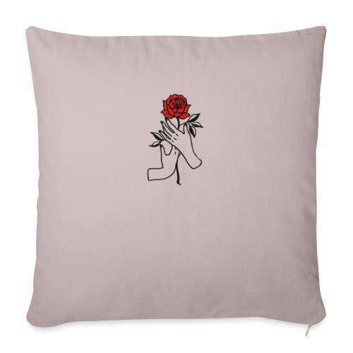 Fiore rosso - Copricuscino per divano, 45 x 45 cm