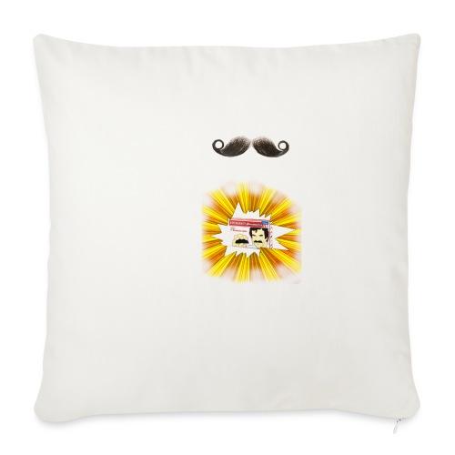 Moustache ad - Sofa pillowcase 17,3'' x 17,3'' (45 x 45 cm)