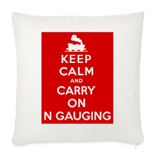 Keep Calm And Carry On N Gauging - Sofa pillowcase 17,3'' x 17,3'' (45 x 45 cm)