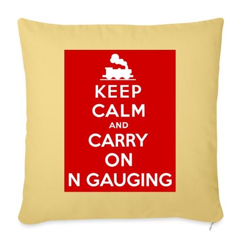 Keep Calm And Carry On N Gauging - Sofa pillowcase 17,3'' x 17,3'' (45 x 45 cm)