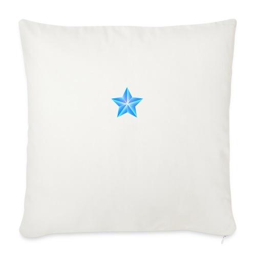blue themed christmas star 0515 1012 0322 4634 SMU - Sofa pillowcase 17,3'' x 17,3'' (45 x 45 cm)