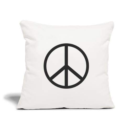 Símbolo de la paz negro - Funda de cojín, 45 x 45 cm