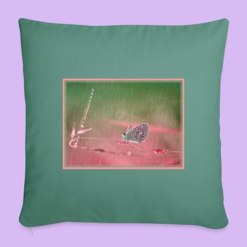 Farfalla nella pioggia leggera - Copricuscino per divano, 45 x 45 cm