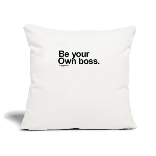Boss in black - Sofa pillowcase 17,3'' x 17,3'' (45 x 45 cm)