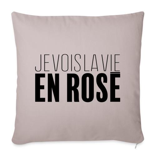 La vie en rosé - Housse de coussin décorative 44x 44cm