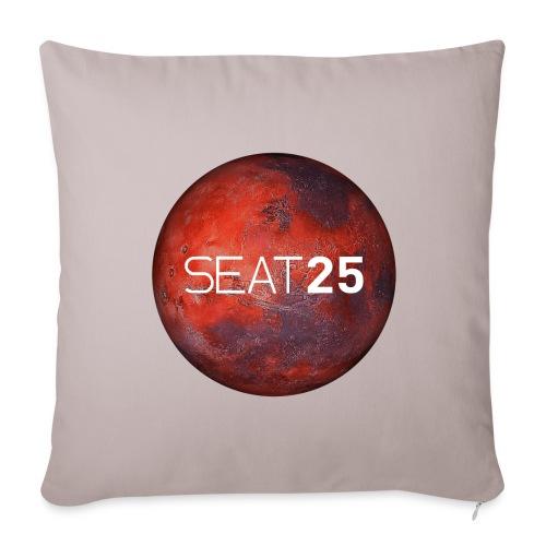 Mars and Logo - Sofa pillow cover 44 x 44 cm