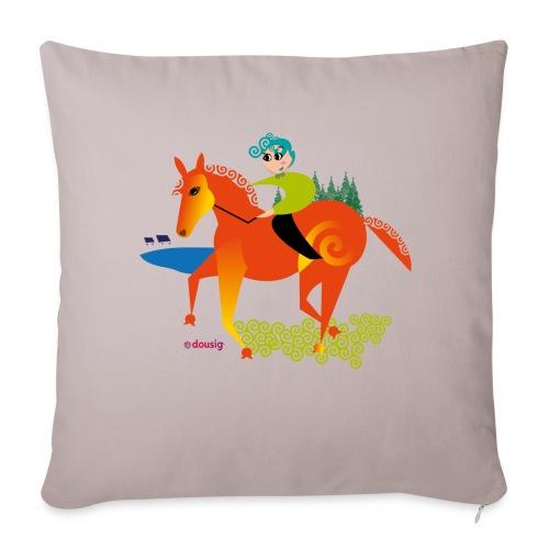 cheval dousig - Housse de coussin décorative 44x 44cm