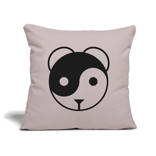panda yin-yang - Housse de coussin décorative 44x 44cm