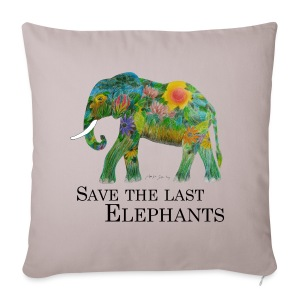 Save The Last Elephants - Sofakissenbezug 44 x 44 cm