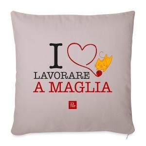 I love lavorare a maglia - Copricuscino per divano, 44 x 44 cm