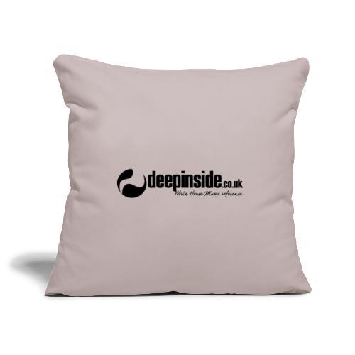 DEEPINSIDE World Reference logo black - Sofa pillow cover 44 x 44 cm