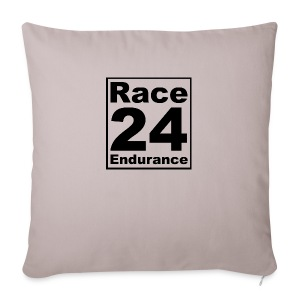Race24 logo in black - Sofa pillow cover 44 x 44 cm