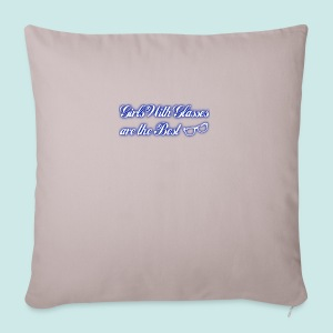 Girls with Glasses Best - Blue - Housse de coussin décorative 44 x 44 cm