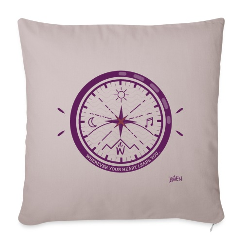 AWEN // adventure compass - Sofa pillow cover 44 x 44 cm