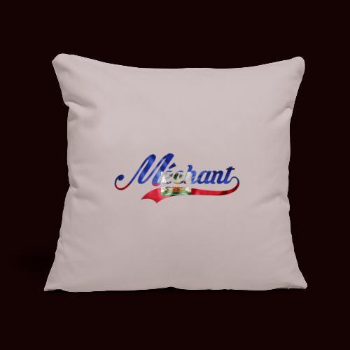méchant drapeau haïtien - Housse de coussin décorative 45x 45cm