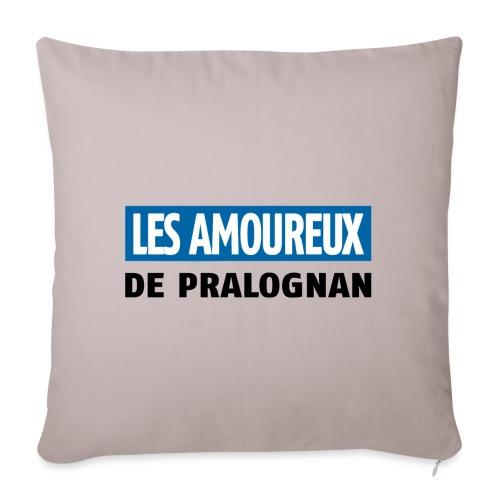 les amoureux de pralognan texte - Housse de coussin décorative 45x 45cm