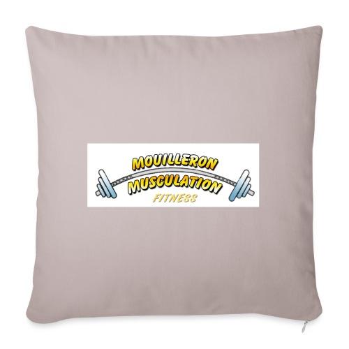 mouilleron muscu logo pour tee shirt 311 - Housse de coussin décorative 45x 45cm