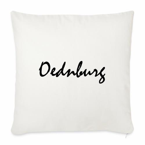 Oednburg Zwart - Sierkussenhoes, 45 x 45 cm