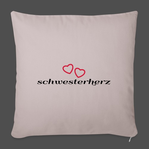 schwesterherz - Sofakissenbezug 44 x 44 cm
