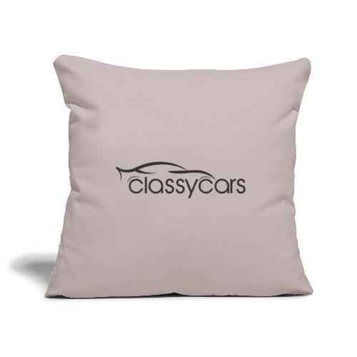CalssyCars Logo Black - Copricuscino per divano, 45 x 45 cm