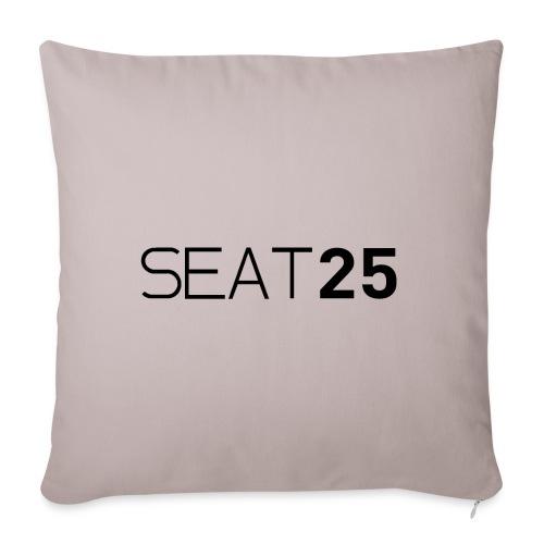 Seat25 Logo Dark - Sofa pillowcase 17,3'' x 17,3'' (45 x 45 cm)