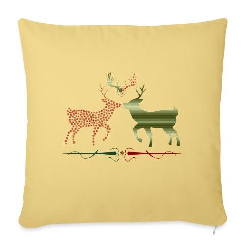 Christmas deer - Sofa pillowcase 17,3'' x 17,3'' (45 x 45 cm)