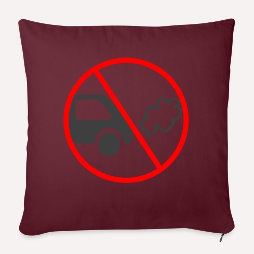 No Car Pollution climate caring print design - Sofa pillowcase 17,3'' x 17,3'' (45 x 45 cm)