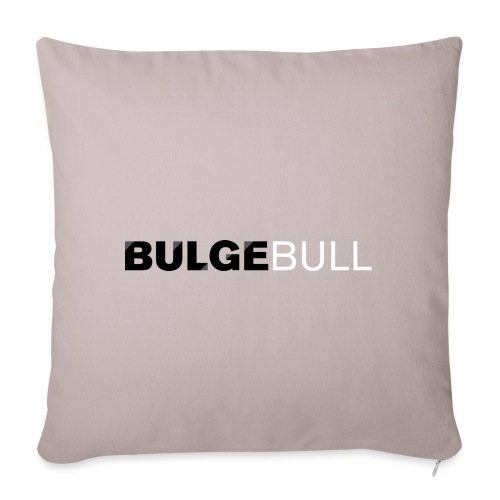 bulgebull logo blanco - Funda de cojín, 45 x 45 cm