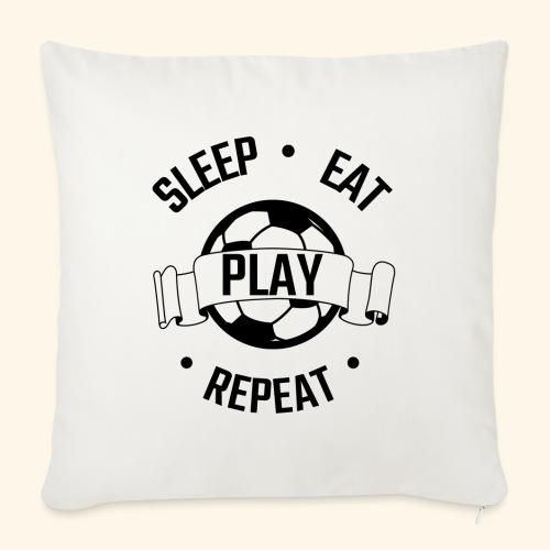 FOOTBALL soccer - Eat sleep play repeat - ballon - Housse de coussin décorative 45x 45cm