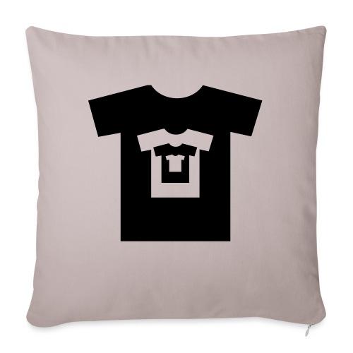 t-shirt récursif - Housse de coussin décorative 45x 45cm