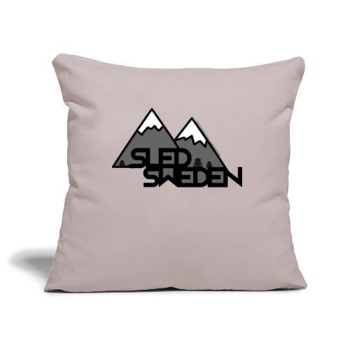 SledSweden Official Logo - Soffkuddsöverdrag, 45 x 45 cm