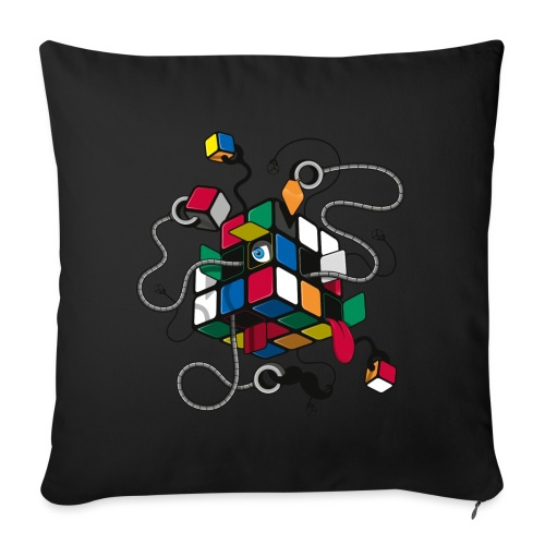 Rubik's Cube Robot Style - Sofa pillowcase 17,3'' x 17,3'' (45 x 45 cm)
