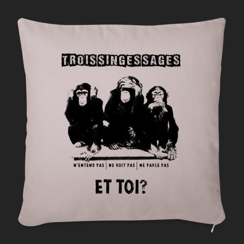 Three wise monkeys - Housse de coussin décorative 45x 45cm