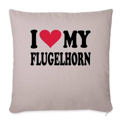 I LOVE MY FLUGELHORN - Sofa pillowcase 17,3'' x 17,3'' (45 x 45 cm)