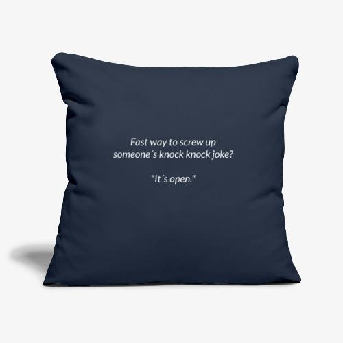 Screwing Up A Knock Knock Joke - Sofa pillowcase 17,3'' x 17,3'' (45 x 45 cm)