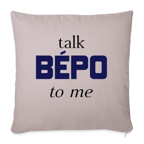 talk bépo new - Housse de coussin décorative 45x 45cm