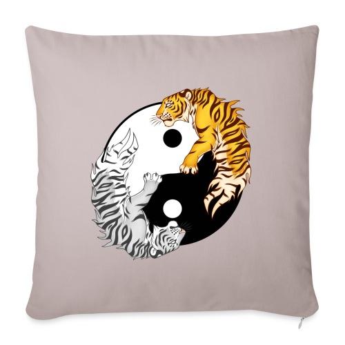 Yin & Yang Tigers - Poszewka na poduszkę 45 x 45 cm