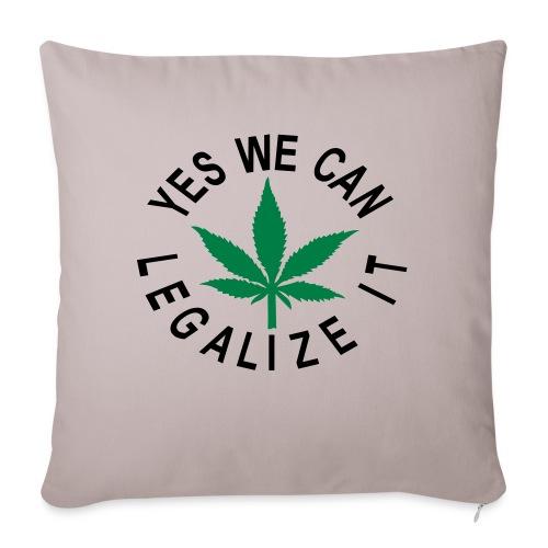 hanfblatt legalize it - Sofakissenbezug 44 x 44 cm