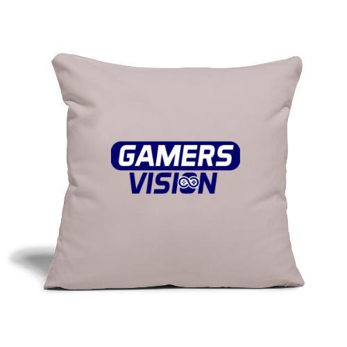 GamersVisiont logo blauw - Sierkussenhoes, 45 x 45 cm