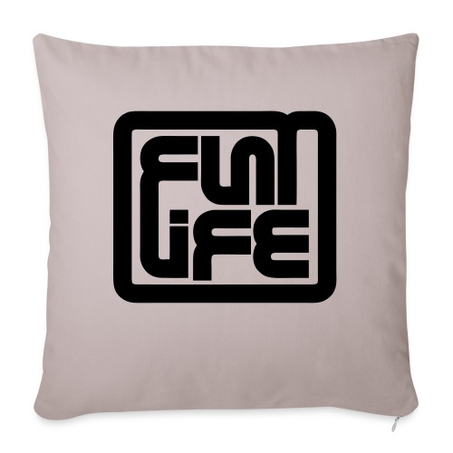 Flatlife Records BLACK - Sofa pillowcase 17,3'' x 17,3'' (45 x 45 cm)